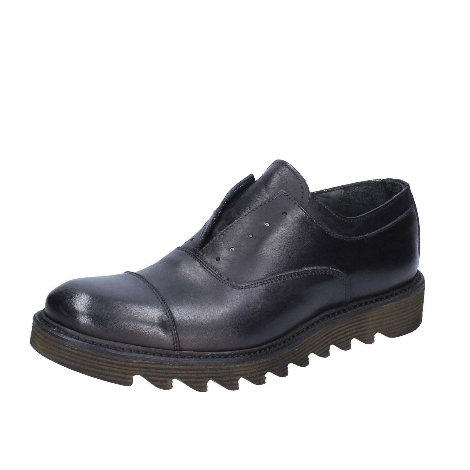 Scarpe uomo +2 nero MADE IN ITALY 44 EU classiche nero +2 pelle BX429-44 be7652