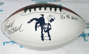 LYDELL-MITCHELL-SIGNED-F-Sz-WHITE-LOGO-FOOTBALL-Baltimore-Colts-Penn-State