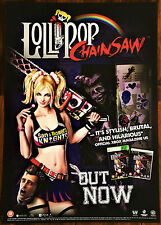 Lollipop Chainsaw PS3 XBox 360 RARE Official Video Game Promo Poster 43x60cm #2