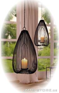 h nge windlicht gro kugel laterne kerzenhalter metall. Black Bedroom Furniture Sets. Home Design Ideas