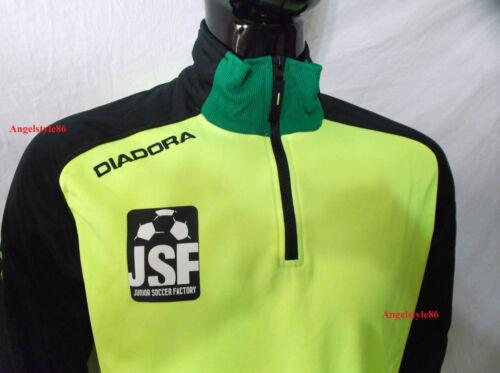L XL nero verde e giallo fluio Tuta uomo con zip allenamento DIADORA  taglia M