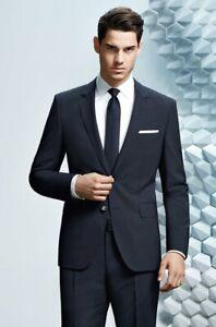 Hugo Boss black virgin wool slim knit knitted neck scarf suit top shirt tie £49