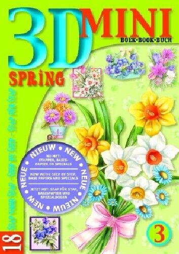 3 18 Diseños Studiolight A6 Mini 3D Decoupage Libro-Libro de Primavera