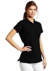 Dickies-Women-039-s-Pique-Polo-Shirt-Black-Medium