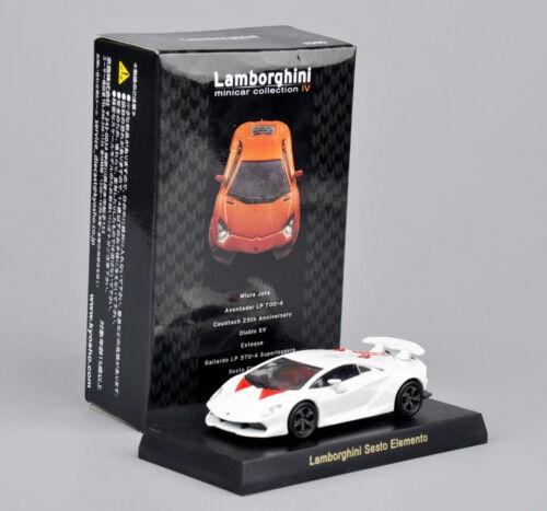 Kyosho 1:64 Diecast Car Model Lamborghini Sesto Elemento Minicar Collection