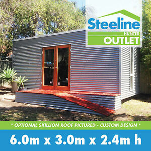 Custom Granny Flat Kit Shed With Skillion Flat Roof Ebay