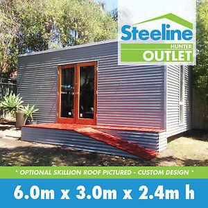 Custom granny flat kit shed with skillion flat roof ebay for 77 salon oakland