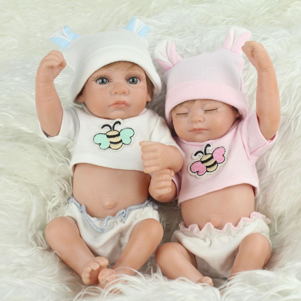 TWINS 10  FULL Silicone Vinile RINATO BABY i capelli realistici GIRL BOY Bambole Bambini Regalo