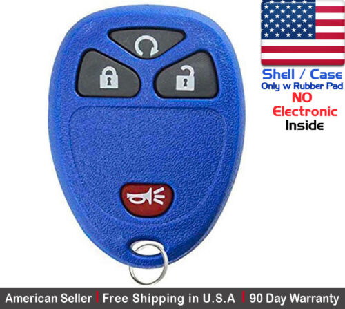 Shell 1x New Replacement Keyless Entry Remote Control Key Fob Case For Chevy