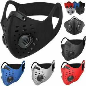 Outdoor Cycling Running Sport Half Face Mask with carbon Filter with valves!