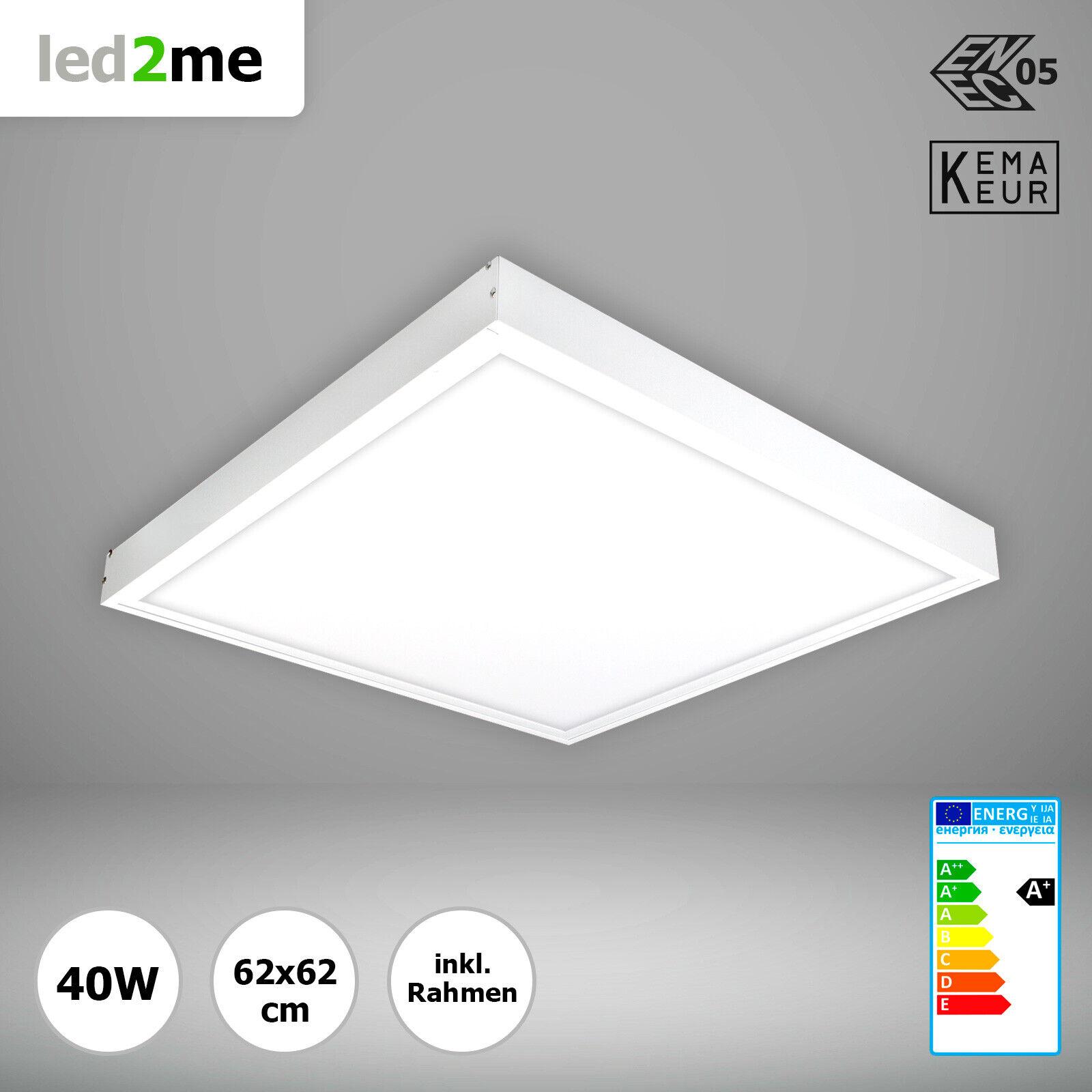 SONDERAKTION Xtend LED Panel 62x62 Tageslicht 40W + Aufputz Montagerahmen