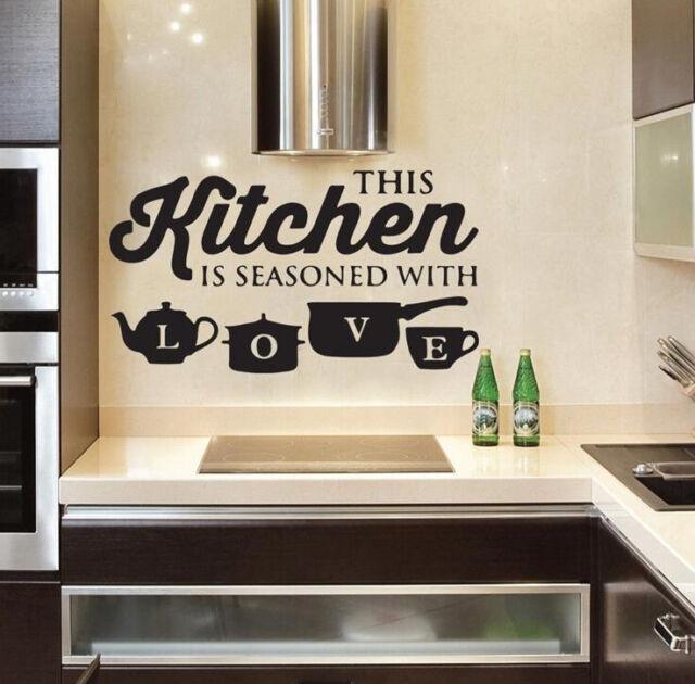 Kitchen Vinyl Wall Decal Home Removable Sticker Room Mural Art Restaurant Decor