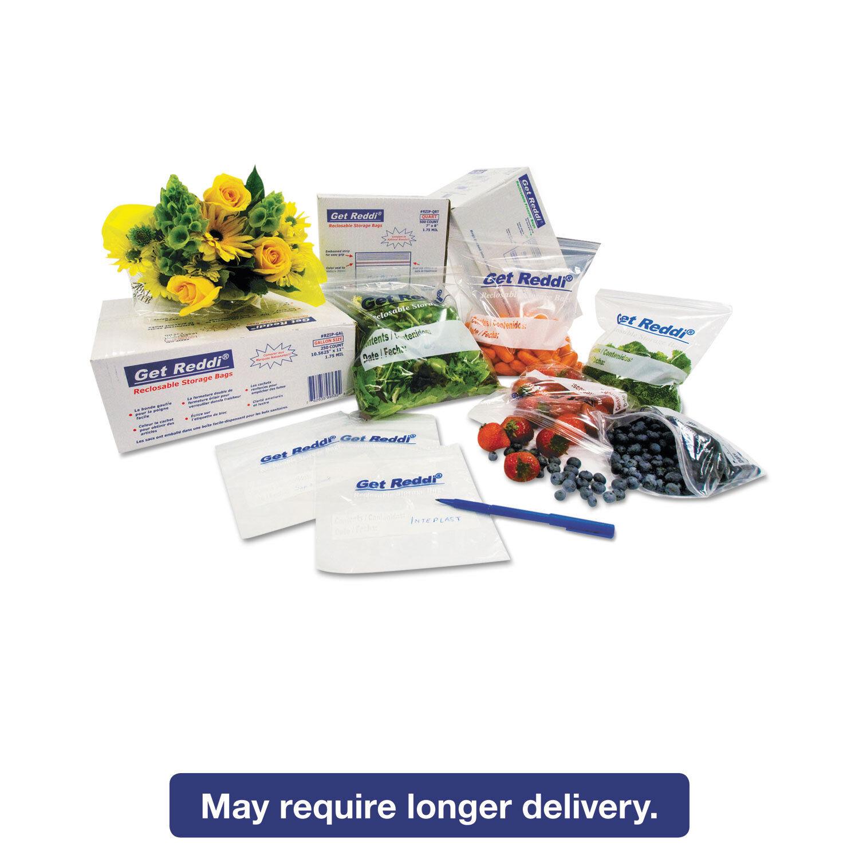 Inteplast Group Get Reddi Food & Poly Bag 12 x 8 x 30 24-Quart 1.00 Mil Clear
