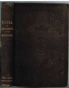 Typee-A-Peep-At-Polynesian-Life-by-Herman-Melville-1849-Rare-Antique-Book