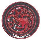 GAME OF THRONES Dark Horse House TARGARYEN Sigil Embroidered PATCH  Dragons