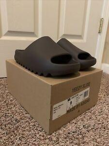Yeezy Slide Soot Size 9 GX6141 New Unworn Brown