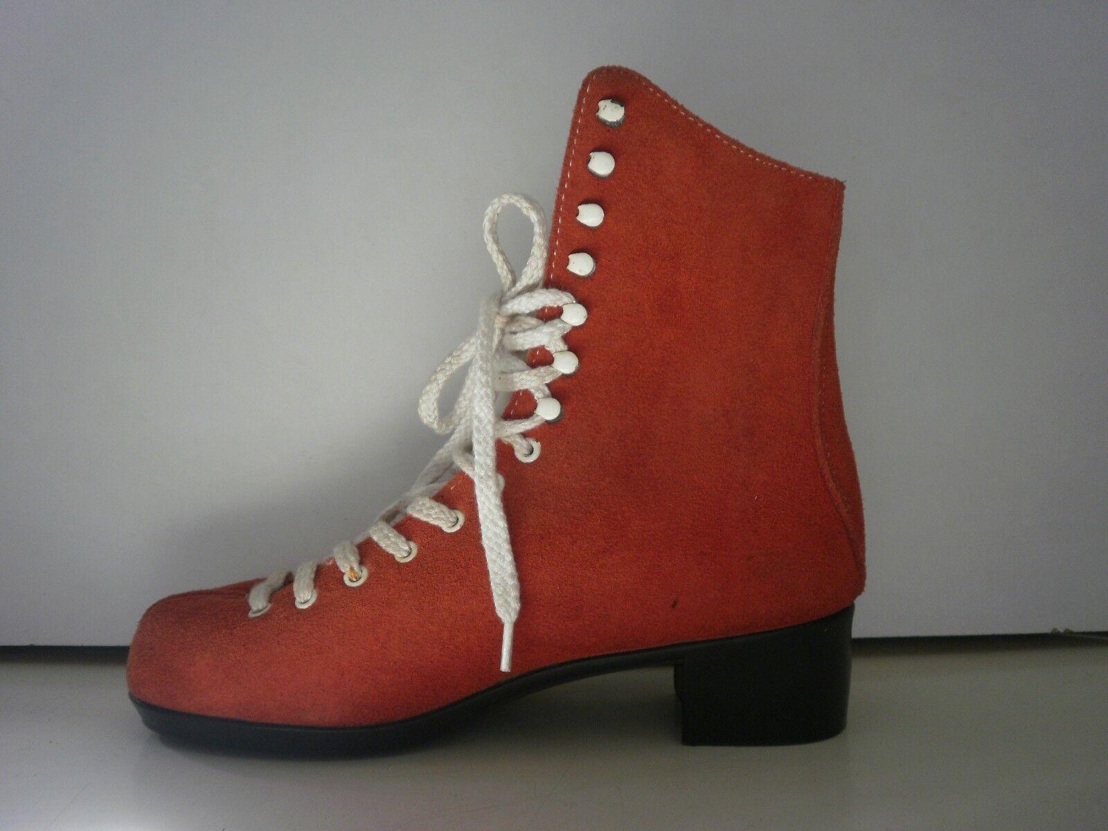 esclusivo Stivaletto da Donna Stivali 70er True Vintage 80s Rosso Rosso Rosso Stivaletti sono normalissime  grandi prezzi scontati