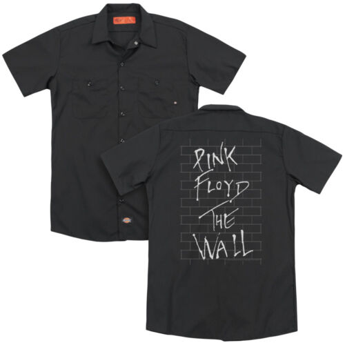 Pink Floyd THE WALL Album Art Black Adult Dickies Work Shirt All Sizes