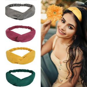 1/6Pack Women's Headbands Boho Solid Color Twisted Criss Cross Elastic Hair  new   eBay