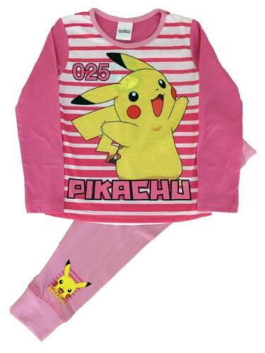 Girls Authentic Pokemon Pink Pyjamas Girls Pyjamas Age 4-12 Years
