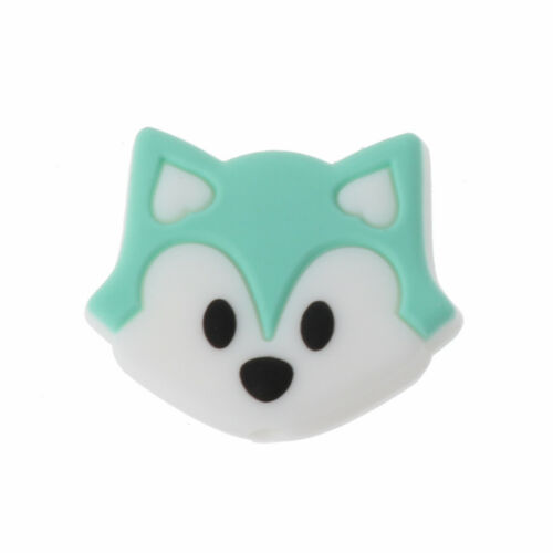 Fox Baby Teething Cartoon Silicone Beads Necklaces Teether Toy Nursing DIY