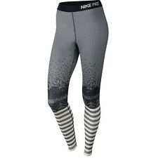 Nike Pro Hyperwarm Engineered Print Long Gray Training Tights Women's Medium M