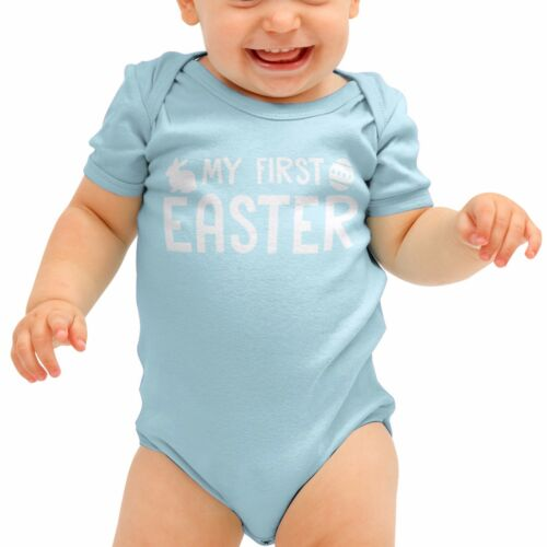 My First Easter 1st Egg Bunny Funny Baby Grow Babygrow Rompie Body Suit B34