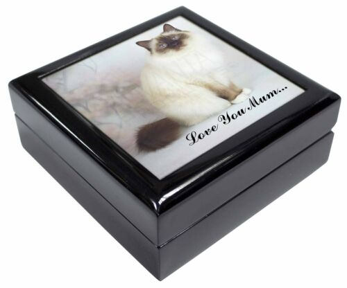 AC-50lymJB Birman Cat /'Love You Mum/' Keepsake//Jewellery Box Christmas Gift