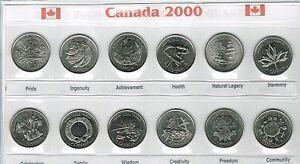 2000-Canadian-Brilliant-Uncirculated-Quarter-Commemorative-Twelve-Coin-set