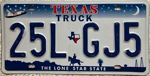 Texas-Space-Shuttle-Truck-American-License-Licence-USA-Number-Plate-Tag-25L-GJ5