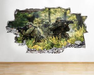 Ejercito-Z000-Escena-Soldados-muchacho-pegatina-pared-vinilo-3d-habitacion-ninos