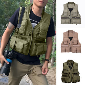 Men-Outdoor-Pocket-Military-Vest-Waistcoat-Photographer-Hunting-Fishing-Coat