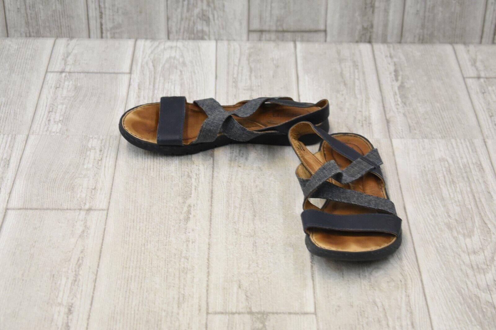 Born Atiana Sandals - Women's Size 6 M - Navy