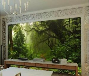 3D-Green-Forest-Self-adhesive-Wallpaper-Living-Room-TV-Background-Wall-Murals