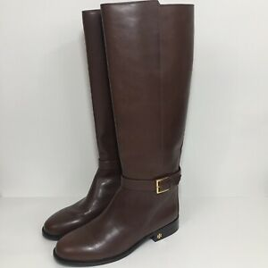 Tory-Burch-Brooke-Brown-Leather-Riding-Knee-High-Boots-Size-8-5