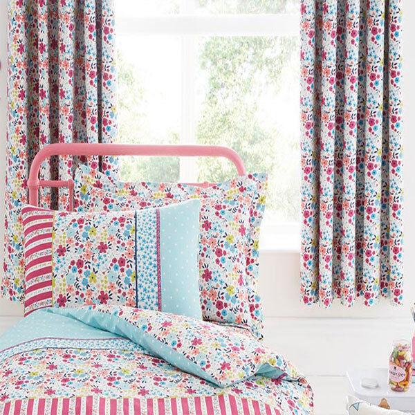 Bedlam Joy Thermal Eyelet Lined Curtains, Multi