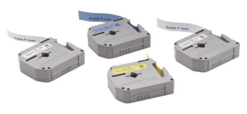 3 Stück Brother Schriftbandkassetten 12mmx4m schwarz auf weiß P-touch 667242000