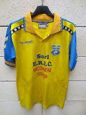 VINTAGE Maillot SPORTING TOULON porté n°12 HUMMEL match worn shirt maglia 14/16