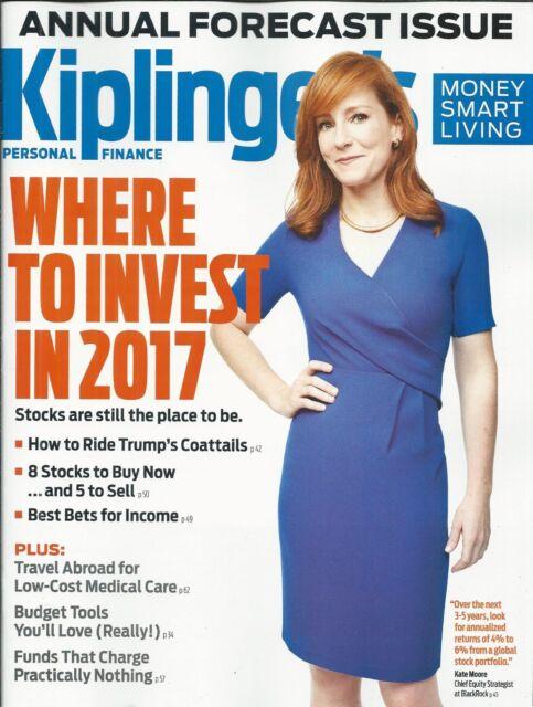 Kiplingers magazine 2017 investing Annual forecast issue Budget tools Medical