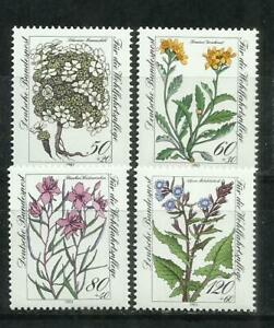 1620F-MNH** 8,00€ SERIE COMPLETA ALEMANIA  FLORES FLORA PLANTAS 1983 Nº1020/3.BO