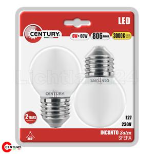 2er Blister = 60W E27 LED Filament Tropfen matt 3000K INCANTO G45-6W