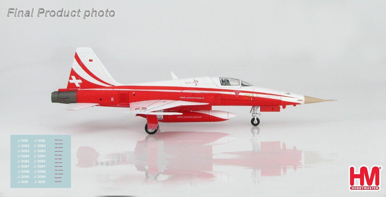 Hobby Master HA3332, Northrop F-5E Tiger II Patrouille Suisse, temporada 2018, 1 72