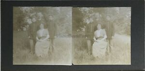 Famille-Foto-Stereo-Amateur-snapshot-n25-Vintage-Citrato-c1900