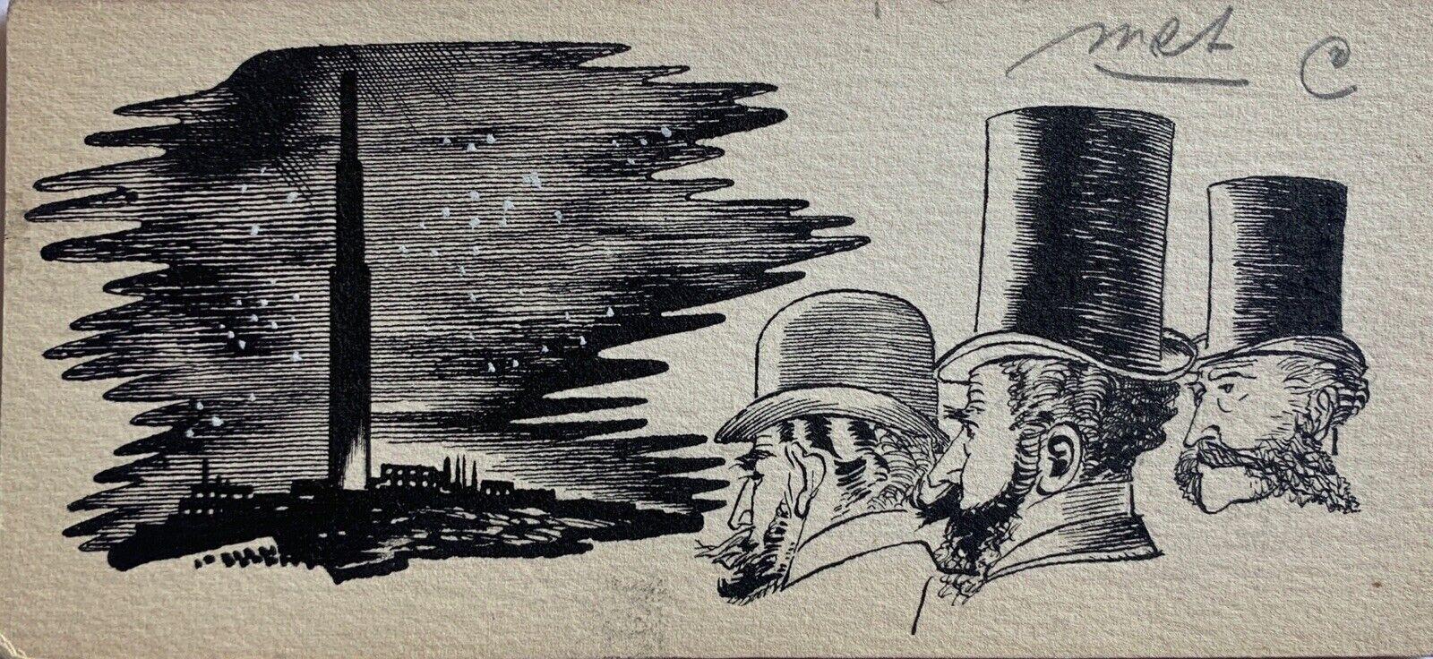 "Photo 1 - Karel Thole - illustrazione originale anni '60 ""I 3 Gentiluomini"""