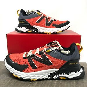 New Balance Women/'s Fresh Foam Hierro v5 Trail Shoes Red with Black /& Yellow
