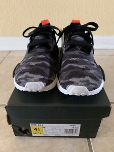 Details about Adidas J Junior NMD_R1 Nomad Running Clear Grey Camo Solar Red White G27948