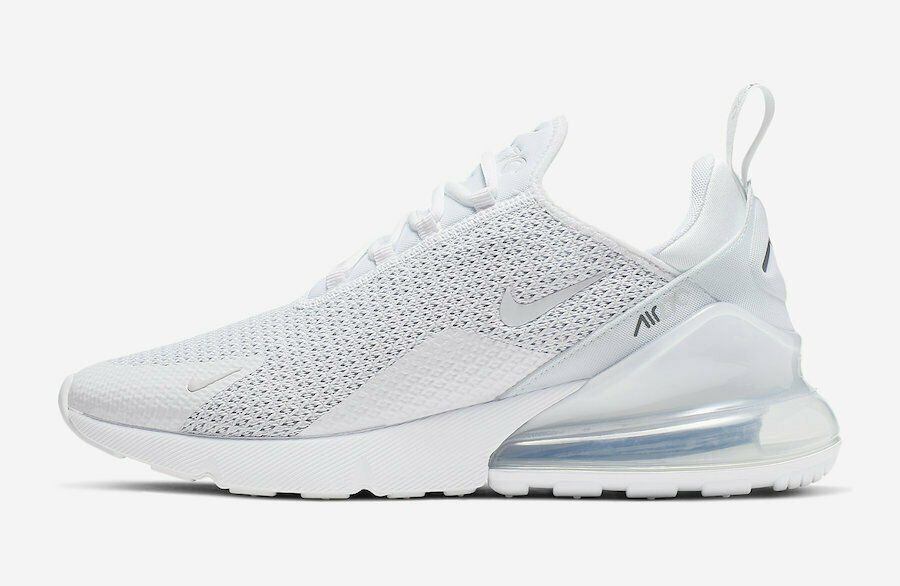 NIKE AIR MAX 270 AQ9164-101 WHITE WHITE PURE PLATINUM