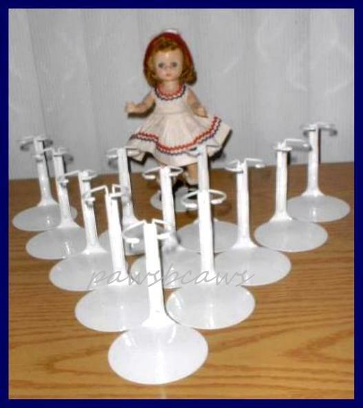 "GINNY DOLL STANDS 6.5/""  to  11/"" KAISER BLACK 2075 */'  8/"" MADAME ALEXANDER 12"