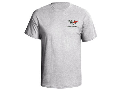 Corvette C5 T-shirt Screenprinted Logo Ash Gray