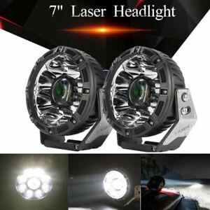 "2x 7""inch Laser LED Work Light Bar Headlight Spot Driving Car Head Lamp Offroad"